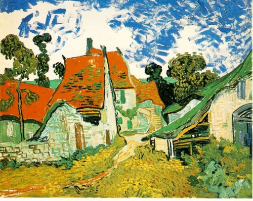 Vincent van Gogh - Drum de sat in Auvers